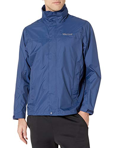 Marmot Men's PreCip Waterproof Rain Jacket, Arctic Navy, Medium