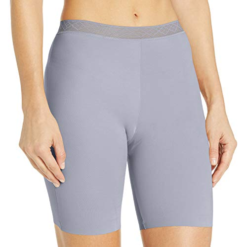 Vassarette Women's Invisibly Smooth Panty 12385, Feather Grey, Large/7
