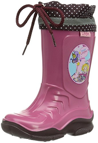 Prinzessin Lillifee Mädchen 130071 Gummistiefel, Pink (rosa/Bordeaux), 32 EU (1 Kinder UK)