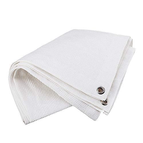 Axdwfd 85% schaduw doek, wit hek Privacy Screen Voorruit Cover stof schaduw Tarp Netting Mesh doek - Heavy Duty - We maken Custom Size