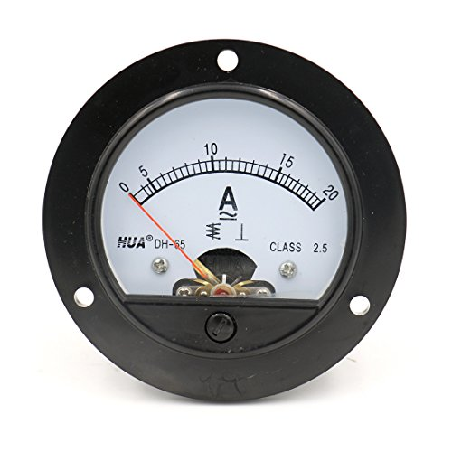 Baomain DH-65 Round Shaped AC 0-20A Analog Panel Meter Ammeter Gauge