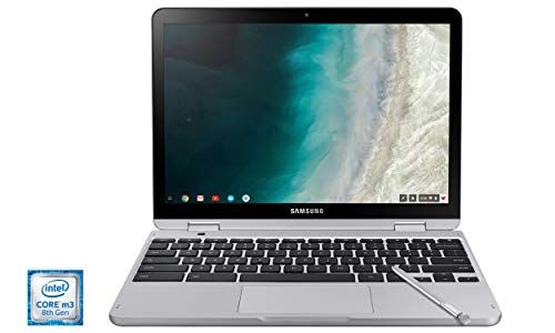 Samsung XE520QAB-K02US Chromebook Plus V2, 2-in-1, Intel Core m3, 4GB RAM, 64GB eMMC, 13MP Camera, Chrome OS, 12.2', 16:10 Aspect Ratio, Light Titan