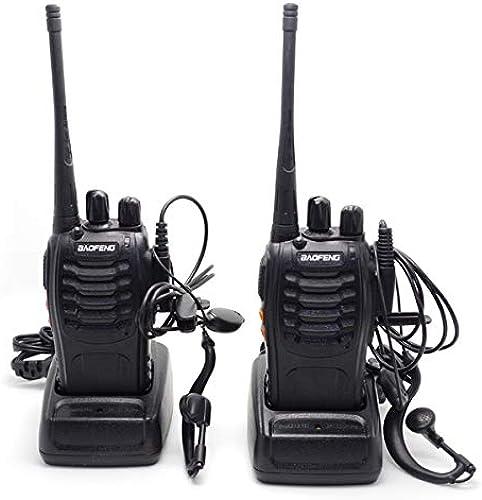 BooksToGrow 2X BAOFENG BF-888S UHF 400-470MHz 5W 16CH Ham Two Way Radio Walkie Talkie