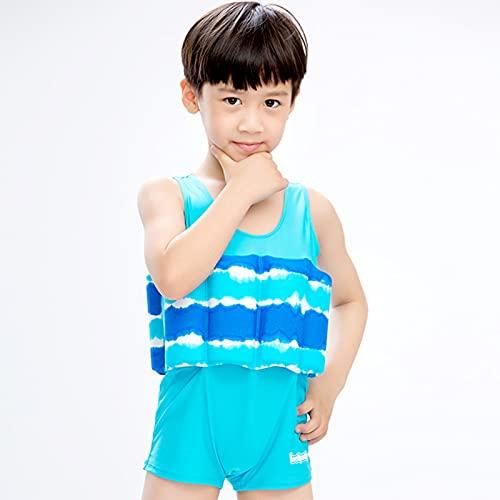 Q-YR Traje de baño de una Pieza de una Pieza para niños 1-6 años de Edad, niños y niñas, Chalecos, Chalecos, Chaleco Flotante de bebé, Chaleco,3,XS