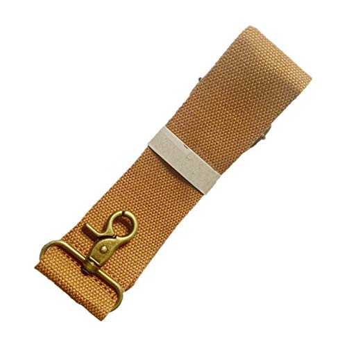 BAOSHA Shoulder Strap Adjustable Replacement Belt for Bags Luggage Universal Straps (Yellow-Brown Strap with Bronze Metal Swivel Hooks)