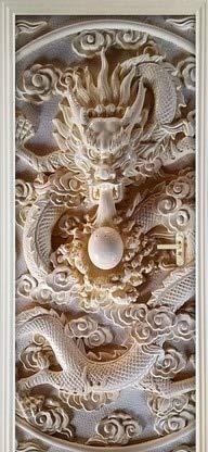 Etiqueta engomada de la puerta 3D Etiqueta de la pared del abrigo de la puerta Papel pintado mural Cartel Autoadhesivo Extraíble Etiqueta de la puerta impermeable Decoración para el hogar A1 77x200cm