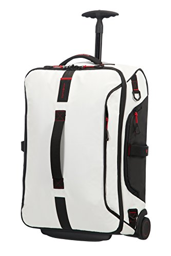 Samsonite Paradiver Light Duffle with wheels Strictcabine, 55 cm, 48,5 L, White