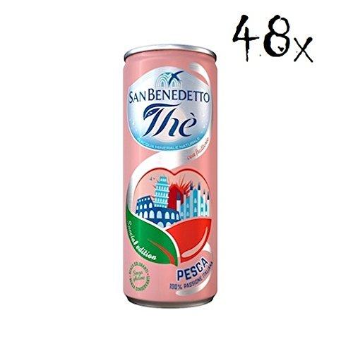 48x San benedetto Eistee Pfirsch The' Pesca Dose 24 x 330 ml tea the erfrischend