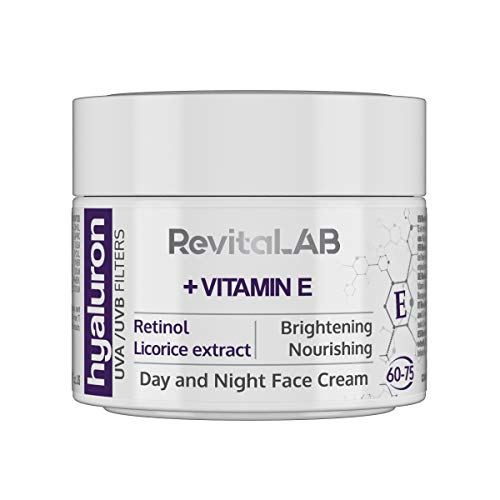 RevitaLAB Hyaluron Anti-Aging Tages- und Nachtcreme, angereichert mit Vitamin A (Retinol), Vitamin...