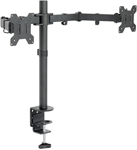 VIVO Dual LCD LED Monitor Desk Mount Stand Heavy Duty Fully Adjustable fits 2 / Two Screens up to 27