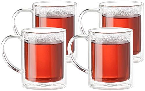 Cucina di Modena Tasse: Doppelwandige Teegläser im 4er-Set, je 200 ml (Doppelwandige Tasse)