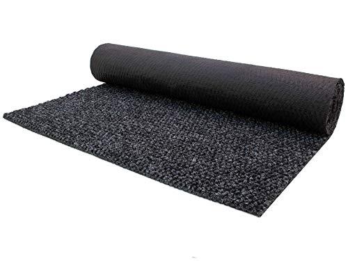 Schmutzfang-Teppich-Läufer Meterware PICOLLO - Anthrazit, 1,00m x 1,50m, Rutschfester Küchenläufer, Robuste Sauberlauf-Matte