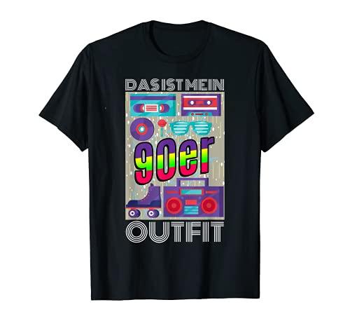 Disfraz de fiesta de los 90 como disfraz para discoteca y carnaval. Camiseta