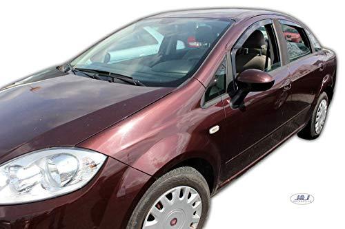 J&J AUTOMOTIVE Derivabrisas para Fiat Linea 4 puerta 2007-2020 4 piezas
