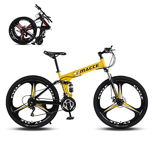 Hyhome Bicicletas de montaña plegables para adultos, 26 pulgadas, 3 radios ruedas...