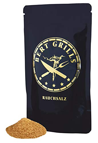 Premium Rauchsalz 125g von Bert Grills | Smoked Salt | aus Luisenhaller Tiefensalz gewonnen | Kalt über Pfälzer Rebknorzen (Weinreben) geräuchert | 100% Made in Germany