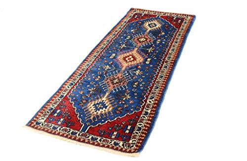 Cristina Carpets Orientalischer Teppich YALAMEH 60 x 148 cm, geometrisch, handgeknüpft, aus Wolle
