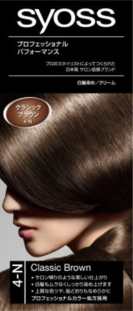 家事ミル発生器サイオス(syoss) ヘアカラー C4 クラシックブラウン 4-N 医薬部外品 クリームタイプのヘアカラー(おしゃれ染め) 女性用×36点セット (4987234360253)
