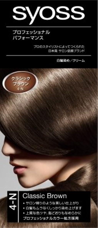 キャラバンシビックベールサイオス(syoss) ヘアカラー C4 クラシックブラウン 4-N 医薬部外品 クリームタイプのヘアカラー(おしゃれ染め) 女性用×36点セット (4987234360253)