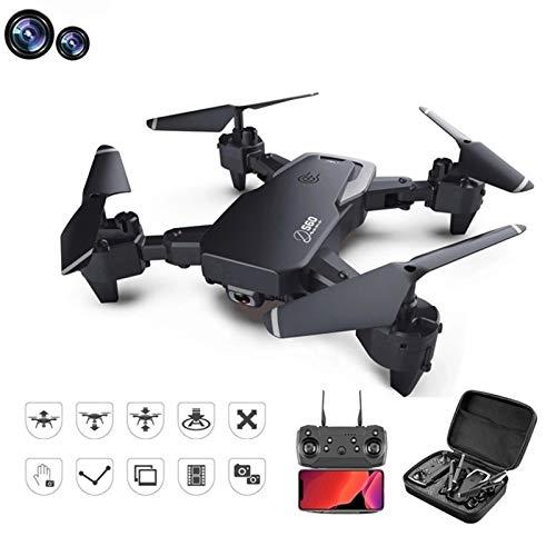 OYZK Drone 4K HD Cámara de Gran Angular 1080P WiFi FPV Drone Dual Cámara Quadcopter Transmisión en Tiempo Real TRANSPERSIÓN Juguetes (Color : 1080P 1 Battery)