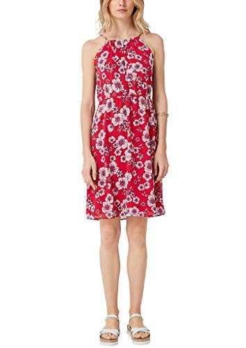 s.Oliver Damen 05.905.82.8053 Kleid, Rot (Red AOP 33a1), (Herstellergröße: 40)