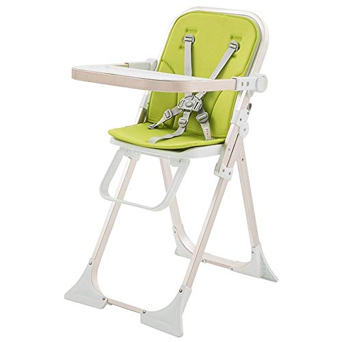 Check Out This TZY Children's Dining Chair Foldable Children's Dining Chair Multifunctional Portable Baby Dining Dining Chair (Color : Green)