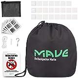 MAVE® Moskitonetz für Doppelbetten - Eckiges oder rundes Fliegennetz im