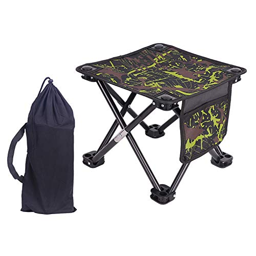 Portable Stool Camping Outdoor Chair Camping Small Seat Barbeque Stool for...