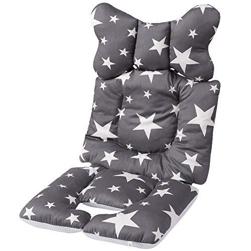Baby Sitzauflage Kinderwagen Sommer,Sitzauflage Kinderwagen Atmungsaktiv,Baby Sitzauflage Baumwolle,Baby Sitzauflage Buggy,Universal Kinderwagen Sitzauflage,Kinderwagen Einlage