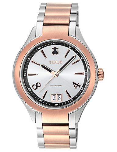 TOUS Reloj ST Bicolor de Acero/IP Rosado (TOUS Reloj ST Bicolor de IP Rosado/Acero Ref:900350290)