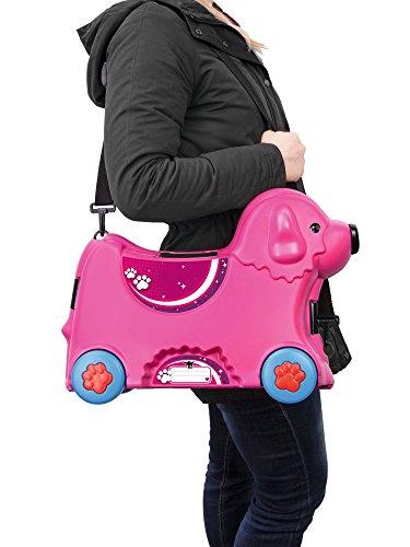 BIG 800055353 – Bobby-Trolley, Kinderkoffer, Kindergepäck, rosa - 6