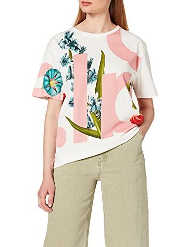 Desigual TS_DSGL Camiseta, Blanco, L para Mujer
