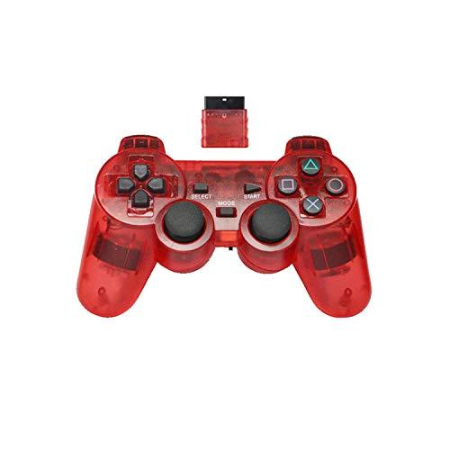 Contrôleur de jeu pour Android |Manette de jeu sans fil 2.4G pour Sony PS2 Controller Double Vibration Shock Controle pour Playstation 2 Console Joystick-red-