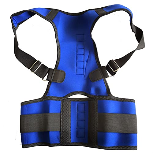 DJDEFK Corrector de Postura Mujeres Corrector Corrector Postura Back-Support Vendaje Hombro Corsé Atrás Soporte Postura Corrección Cinturón (Color : Blue, Size : M)