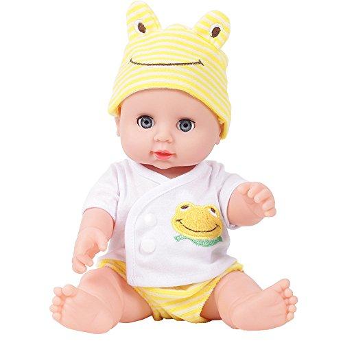 Italily -Bambola emulato del Bambino Morbidi Bambini Reborn Baby Doll Toys Boy Girl Birthday Gift YE (Yellow)