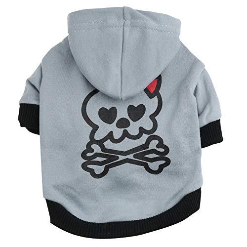 Hey shop Halloween Hundekostüm mit Hut bedruckt Schleife Schädel T-Shirt