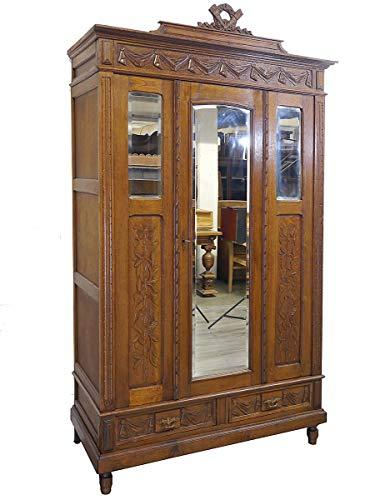 Antiker Kleiderschrank um 1920 | Dielenschrank aus Eiche massiv | Schrank ist zerlegbar (9762)