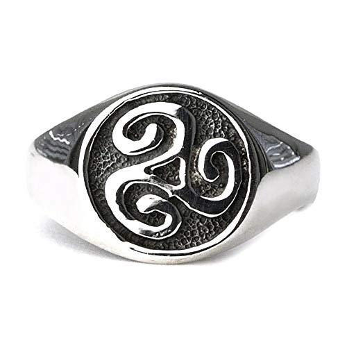 Ring Keltische Triskele Dreierwirbel 925 Sterlins Silber Höhe 1,2cm (64 (20.4))