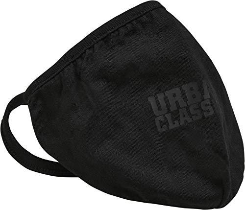 Mundmaske aus Stoff, wiederverwendbare Baumwollmaske Cotton Face Mask, Schwarz, 2er Pack