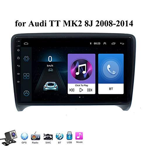 Android 8.1 GPS Navegación del Coche Estéreo para Audi TT MK2 8J 2006-2014, con 9 Pulgada Pantalla, Soporte Reproductor Multimedia/Control del Volante/Mirror Link