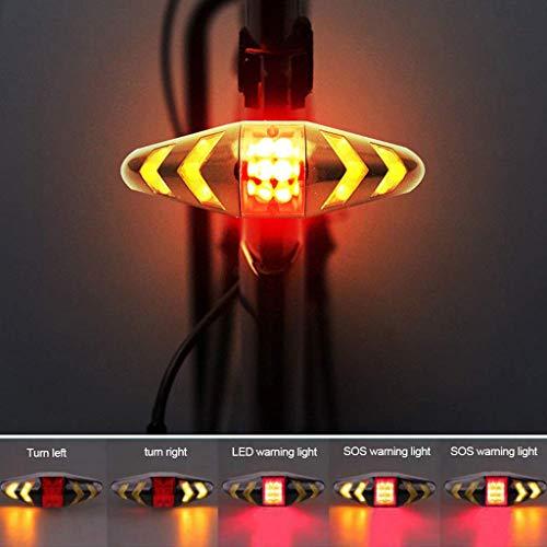 Gugavivid Fahrradbeleuchtung Fahrrad-Rücklicht-Blinker mit kabellosem Fahrradrücklicht wasserdichte Fahrradlampe Superhelle für Nachtfahrer, Radfahren und Camping