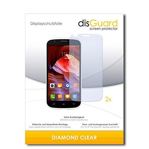 disGuard 2 x Bildschirmschutzfolie Slok C2 Schutzfolie Folie DiamondClear unsichtbar
