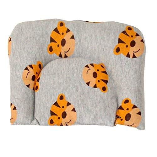 WildCollect La Impresión del Tigre Almohada Bebé Ayuda del Cuello Almohada Almohada para Cuello Niños (Gris) | Baby-Act-156