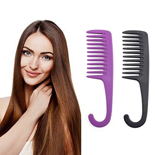 Nicute Lot de 2 peignes à cheveux noirs pour salon de coiffure - Pour femme et fille