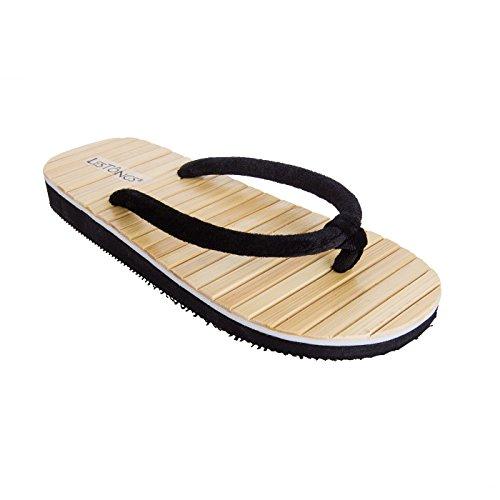 Sonnenscheinschuhe® Zimtlatschen Tong Bambus schwarz Gr. 35-46 NEU Sandalen Zehentrenner Zimt (43/44)