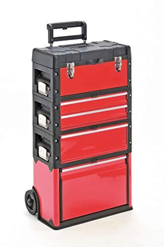 Werkzeugtrolley, 4-fach 1k.1.2.1 rot