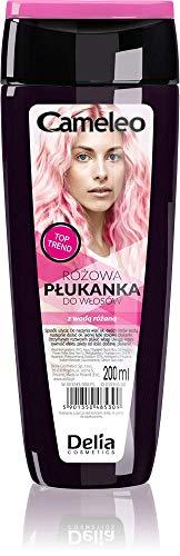 Cameleo - Rosa Haar-Toner mit Rosenwasser, KEIN Gelbstich, semi-permanente Haarfarbe - für blondes & graues Haar - Farbe & Pflege - parabenfrei | 200 ml