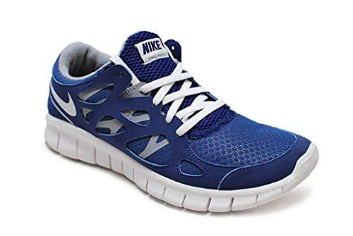 Nike Damen Free Run+ 2 EXT – 536746410 – Königsblau / Weiß / Grau, - Königsblau Weiß Grau - Größe: 35.5 EU