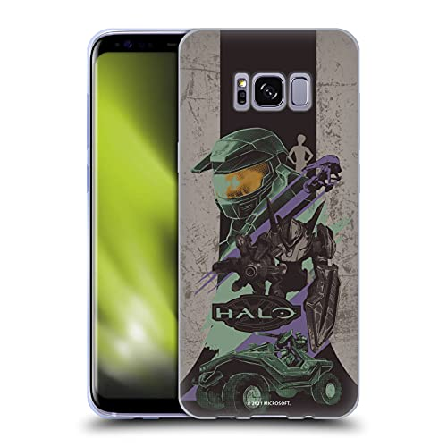 Head Case Designs Officially Licensed Xbox Game Studios Halo Infinite Poster 20th Anniversary Soft Gel Case Compatible with Samsung Galaxy S8