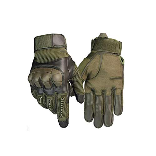 ZGHYBD Tactical Gloves-Indestructible Touch Screen Motorcycle Warm Waterproof Full Finger Gloves for Climbing Camping Hiking Work Outdoor Sports XL Green
